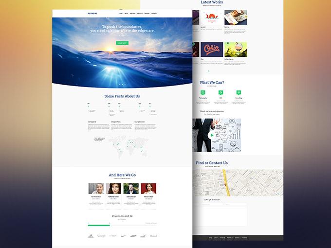 Aqual - 無料ホームページ テンプレート