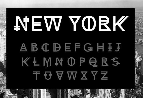ニューヨークのフリー フォント