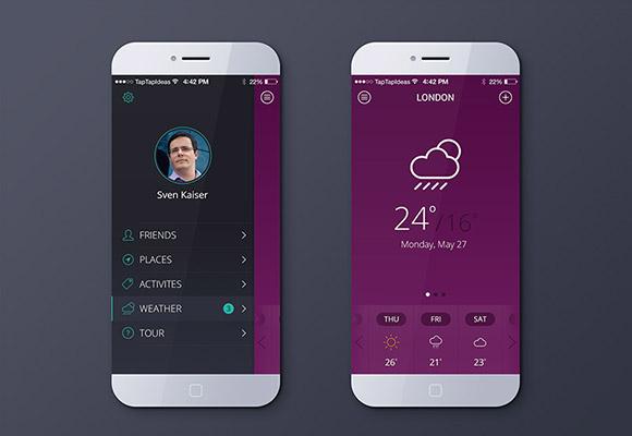 無料の天気アプリ PSD