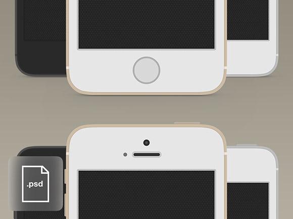 iPhone 5 s 平らなモックアップ