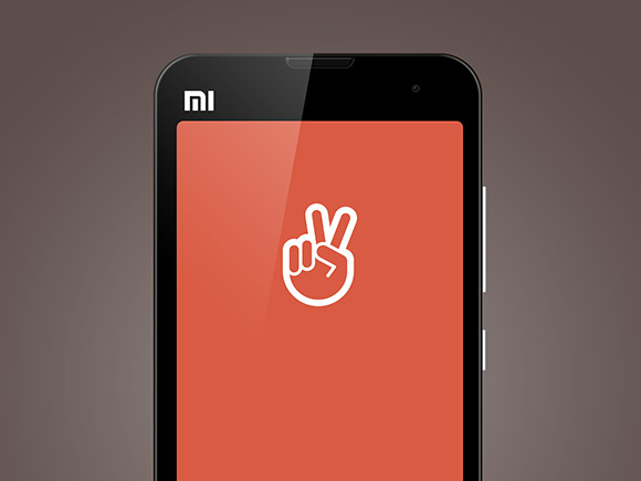 Xiaomi Mi2 PSD モックアップ