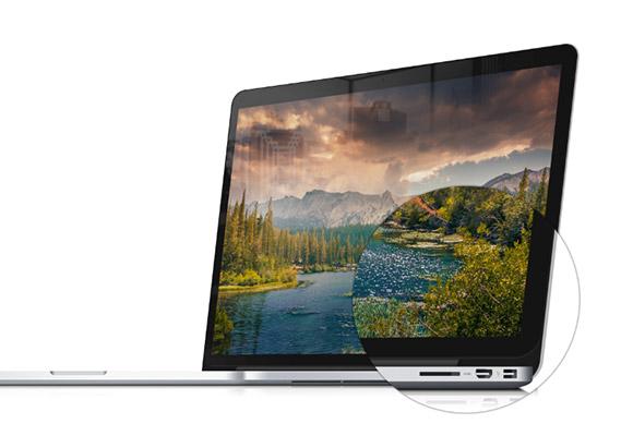 Macbook Pro の網膜のモックアップ