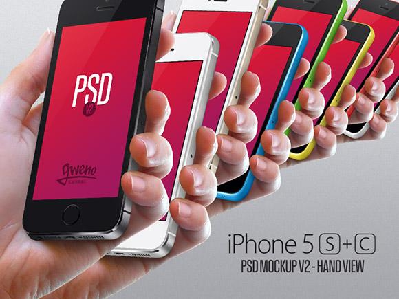 iPhone 5 s & 5 C モックアップ セット