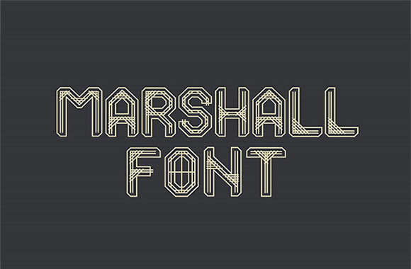 マーシャルのフリー フォント